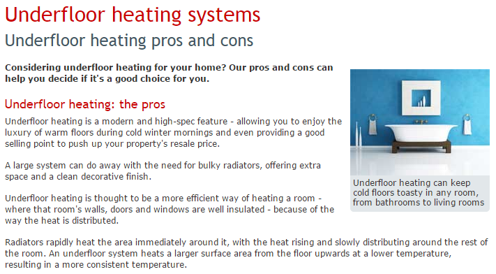 Which Underfloor Heating Pros and Cons